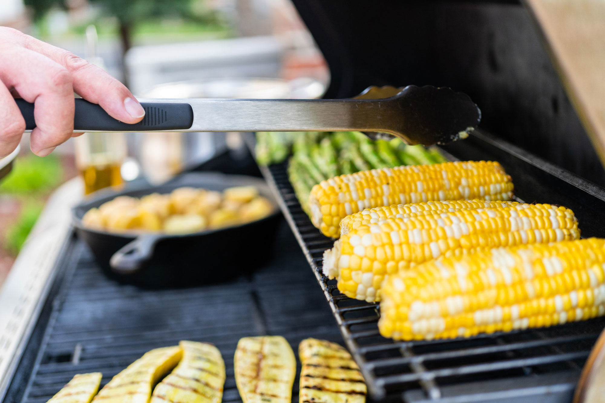 vegetables on gas grill